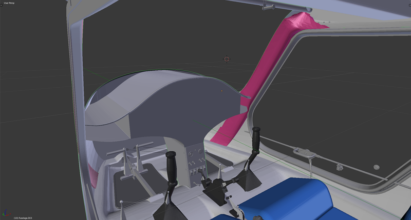 The 3D model of the X-ALPHA in progress