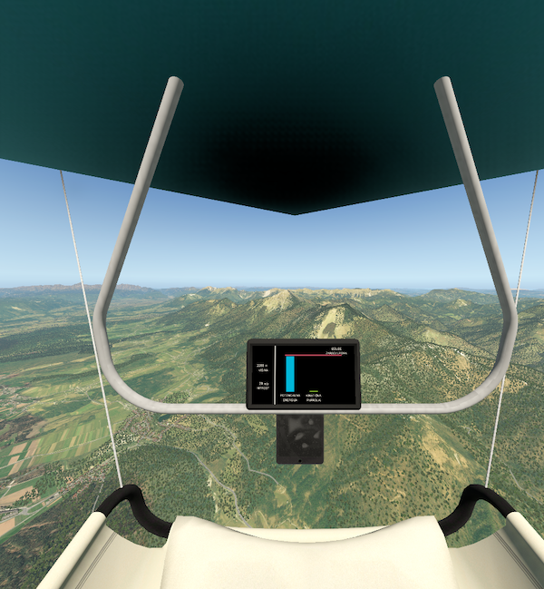 Pilot view in FlyZmaj