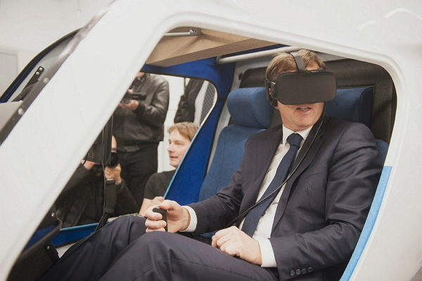 Prime Minister of Republic of Slovenia flying the X-ALPHA