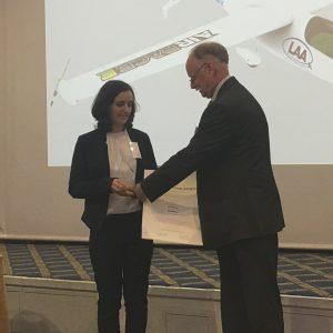 Mrs. Nika Mlinarič - AFormX receiving the award after her presentation of our winning entry.